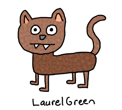 a badly-drawn cat