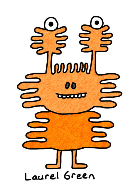 a drawing of a squiggly creature