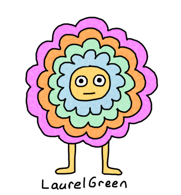 a drawing of a flowery critter