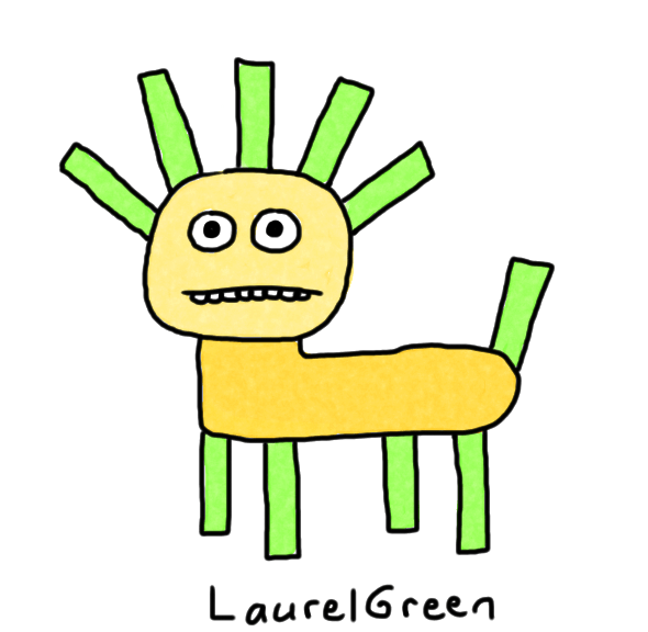 a drawing of a rectangular dog thing