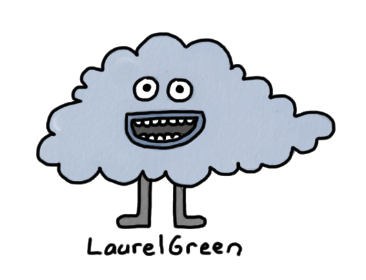 a drawing of a raincloud person