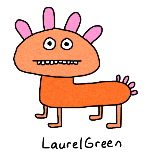 a drawing of a lumpy creature