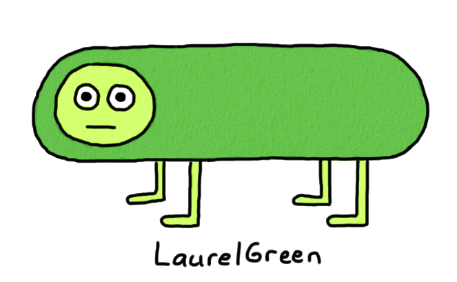 a drawing of a hybrid between a dog and a pickle