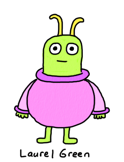 a drawing of a bug in a spacesuit