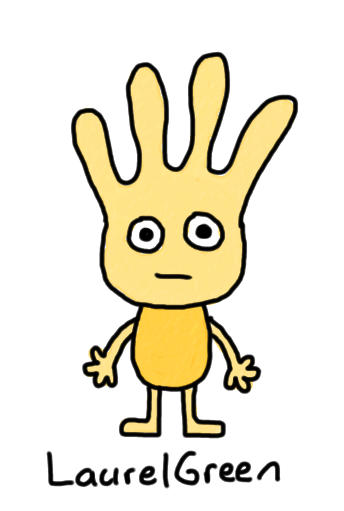 a drawing of a boring yellow person