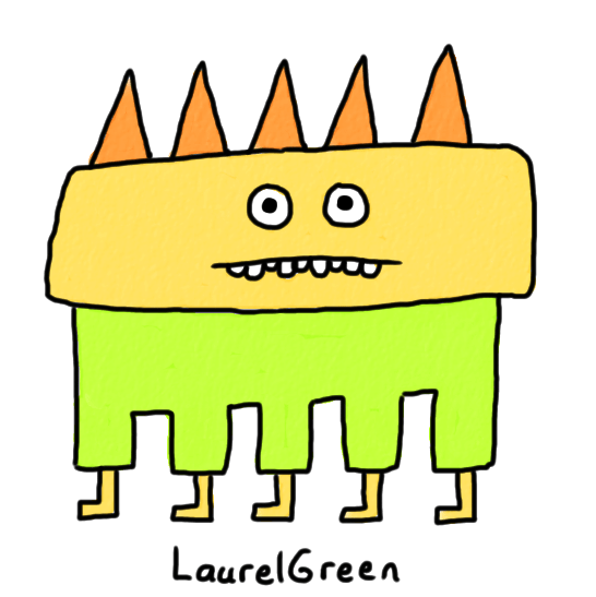 a drawing of a creature with five legs and spikes growing out of its head
