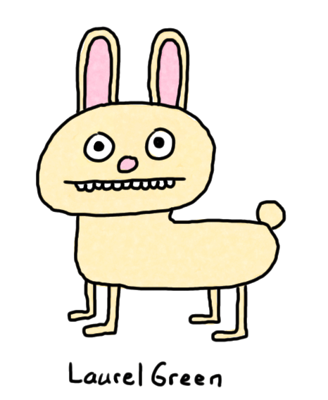 a drawing of a rabbit