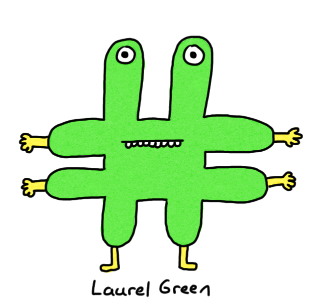 a drawing of a green hashtag
