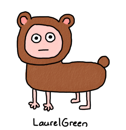 a drawing of a person in a bear fursuit