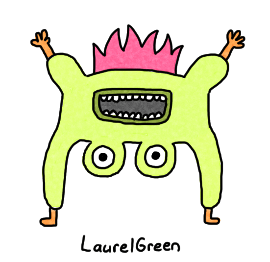 a drawing of a scary creature that has eyeballs for testicles