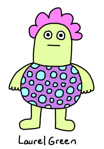 a drawing of a fat person who's covered in spots