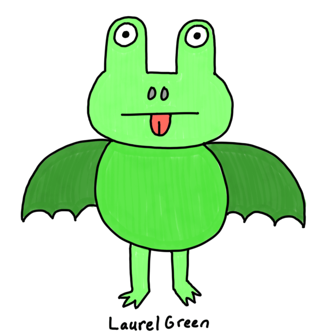 a drawing of an animal that's a hybrid between a frog and a bat