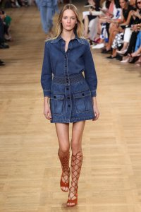 bloat and denim dress