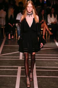 Bloat and black dress