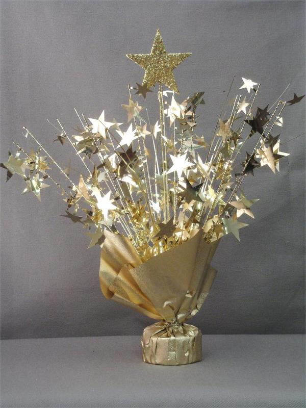 Gold Star Table Centerpiece
