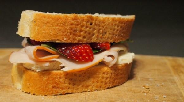 Turkey Strawberry Brie Sandwich | doomthings