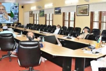 प्रधानमंत्री श्री नरेन्द्र मोदी की मुख्यमंत्रियों के साथ वीडियो कॉन्फ्रेंसिंग में प्रतिभाग किया