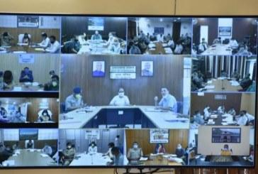 मुख्यमंत्री ने वीडियो कांफ्रेंसिग द्वारा प्रदेश में कोविड-19 की स्थिति की समीक्षा की