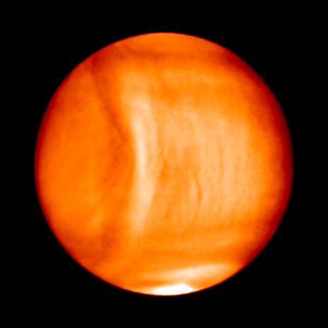 Massive 10000km-long structure spotted in Venus' atmosphere - before abruptly disappearing