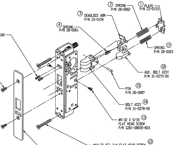 Field Reversing the Adams Rite 4510 Latch » Door Hardware