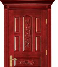 Carved dragon wooden front door