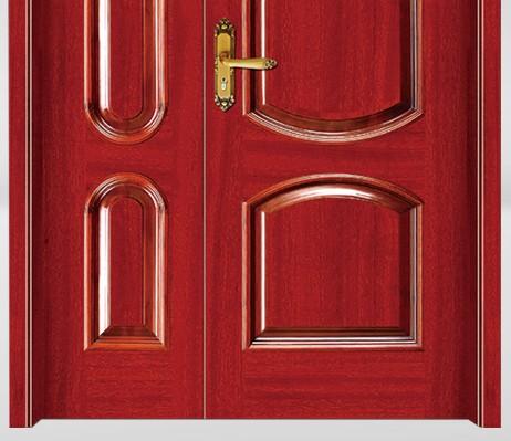 Geometric designs luxury wooden door