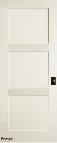 Primed MDF 3-Panel Contemporary Interior Doors | Homestead ...