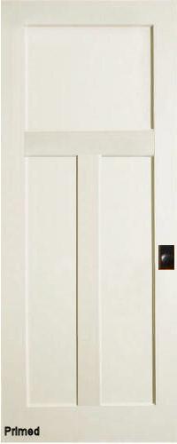 Mission 3 Panel Primed MDF Interior Doors Homestead Doors