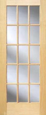 Pine 15-Lite French Interior Doors | Homestead Doors