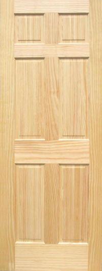 Pine 6-Panel Wood Interior Doors   Homestead Doors