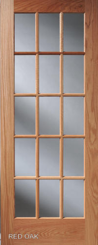 Homestead Interior Doors - Divided 15-Lite French Glass Door