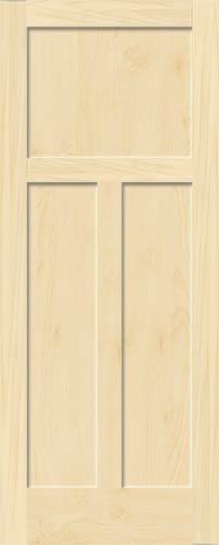 Birch Mission 3 Panel Wood Interior Doors Homestead Doors