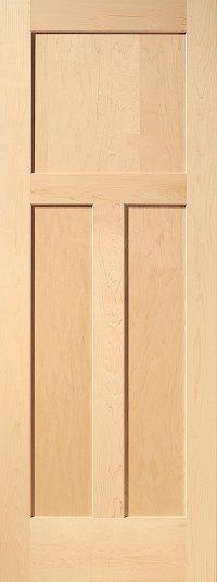 Maple Mission 3-Panel Wood Interior Door | Homestead Doors