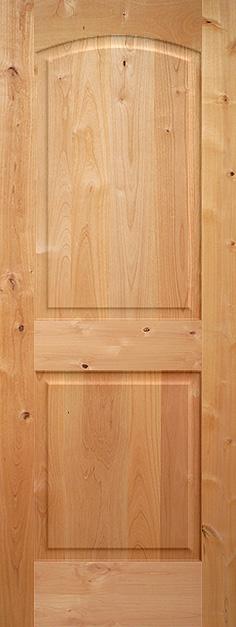 Knotty Alder Arch 2 Panel Wood Interior Door Homestead Doors