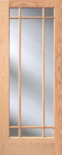 Red Oak Prairie 9Lite French Interior Doors  Homestead Doors