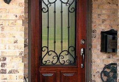 Iron And Wood Front Doors