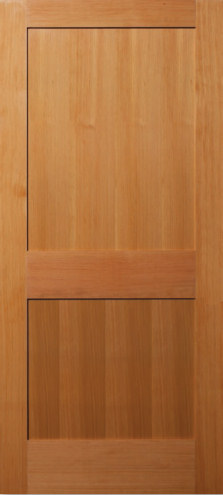 Vertical Grain Douglas Fir 2 Panel Flat Panel Interior