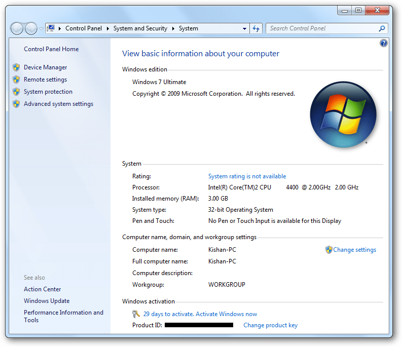 activators windows 7