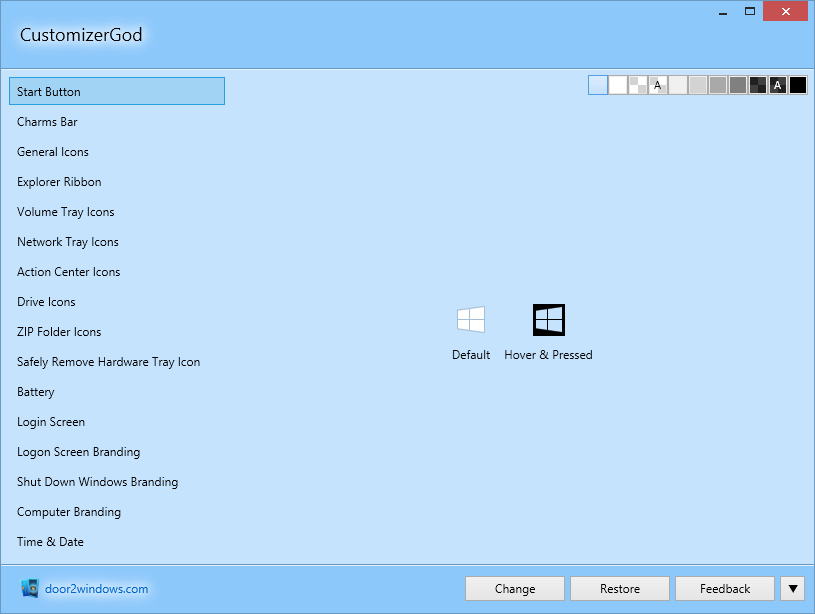 CustomizerGod in Windows 8.1