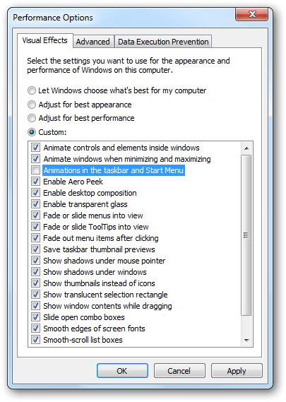 Disable Hot Track Animation In Windows 7 Taskbar