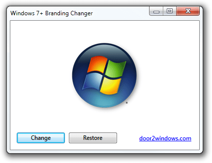 Windows 7+ Branding Changer