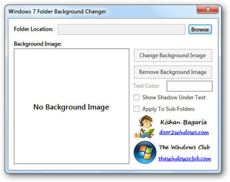Windows 7 Folder Background Changer : Change Any Folder's