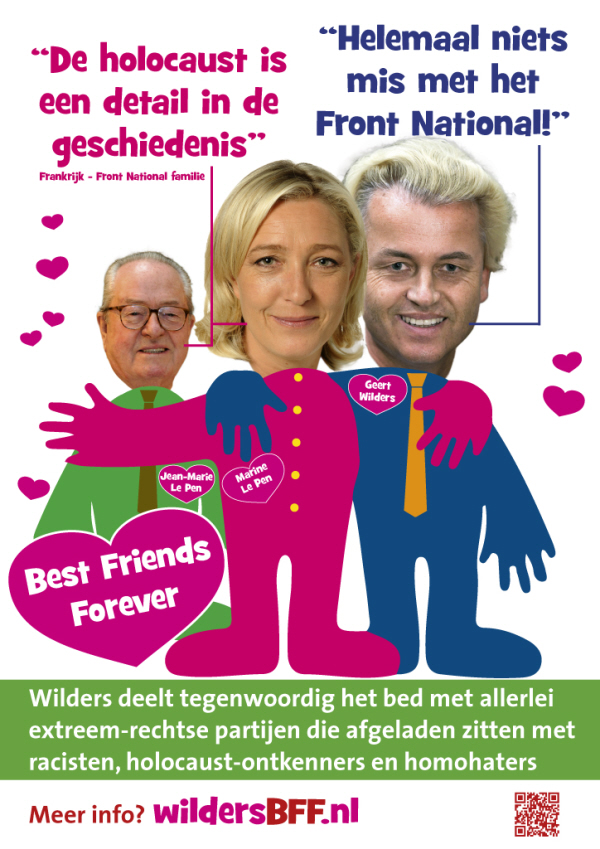 Dutch poster about Le Pen and Wilders