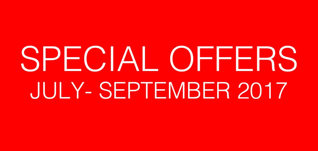Special Offers July – September 2017
