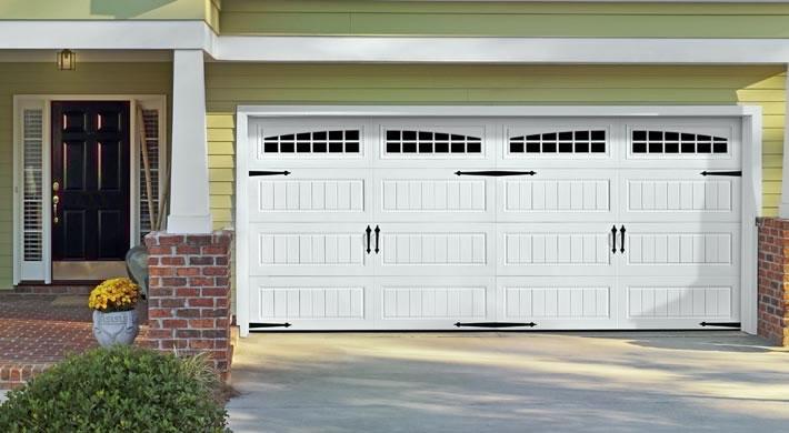 Garage Door  Long Panel Bead Board with Moonlite Windows