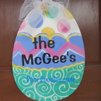 Personalized Easter Egg front door hanger decoration decor