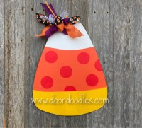 Candy corn door decoration
