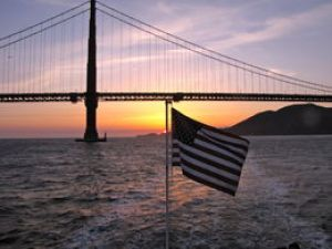 sunset flag