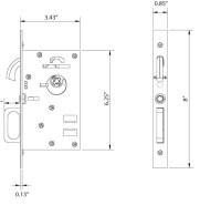 Emtek 2116 Dummy Pocket Door Modern Mortise Lock