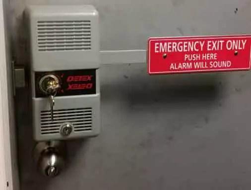 fire rated door with alarm